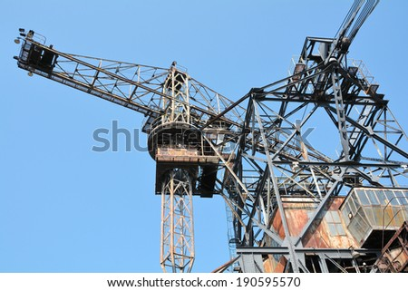gigantic excavator in the disused lignite opencast Ferropolis