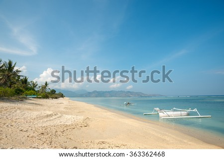 Gili Air, in West Nusa Tenggara, Indonesia - stock photo