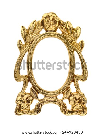 Gilt Gold Picture Frame - stock photo