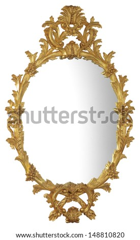 Gilt Mirror - stock photo