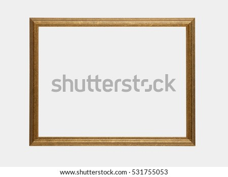GILT PICTURE FRAME ON WHITE BACKGROUND Stock Photo (Edit Now ...
