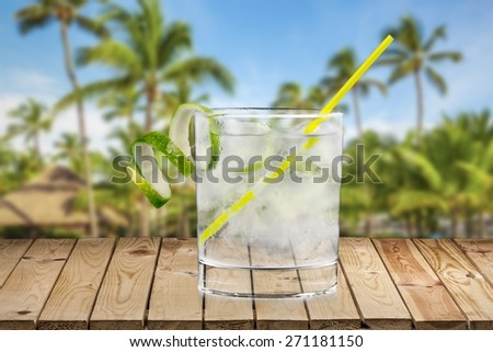 Gin, Tonic Water, Cocktail. - stock photo