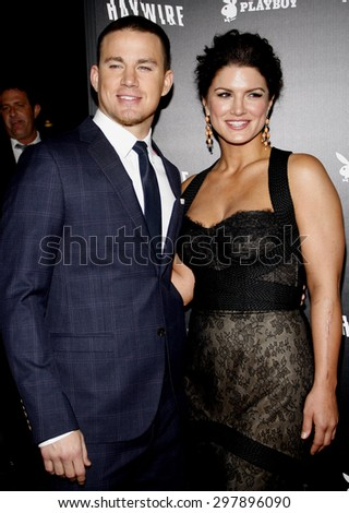 Gina Carano and Channing Tatum at the Los Angeles premiere of 'Haywire' held at the DGA Theater in Hollywood on January 5, 2012.