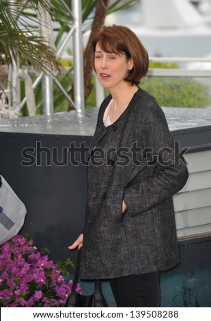 "Gina McKee at the photocall for her movie ""Jimmy P. Psychotherapy of a Plains Indian"" in competition at the 66th Festival de Cannes. May 18, 2013  Cannes, France"