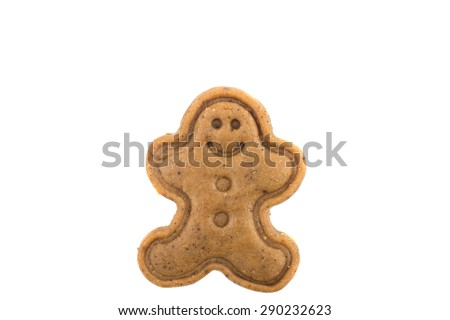 ginger biscuits on a white background