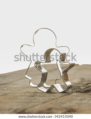 ginger bread man cookie cutter - stock photo