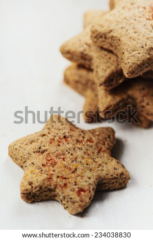 ginger cookies - stock photo