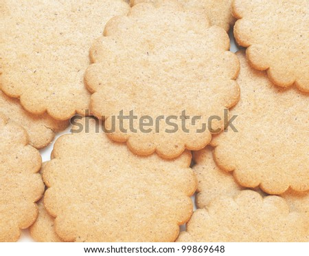 Ginger cookies background - stock photo