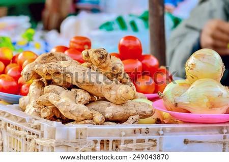 ginger ion market - stock photo