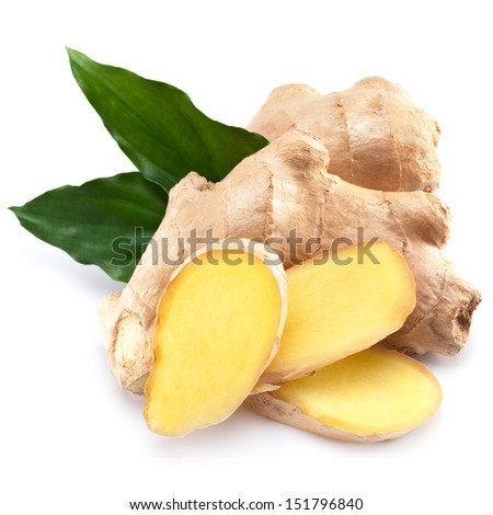 ginger isolated on white background  - stock photo