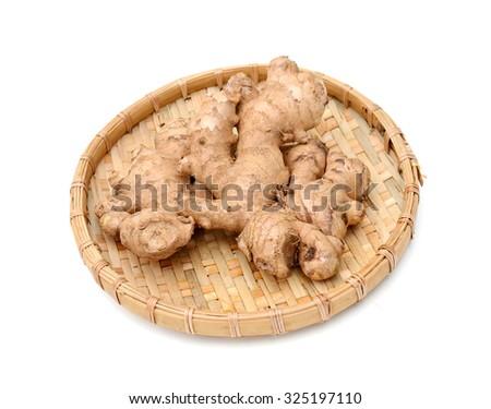 ginger isolated on white background  - stock photo