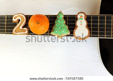 Ginger Number Two Orange Tangerine Decorated Stock Photo 769587580