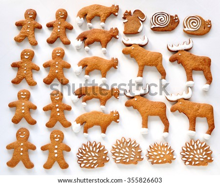 Gingerbread animals
