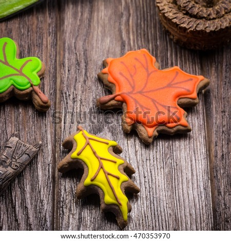 "Gingerbread ""Autumn leaves"""