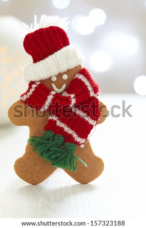 Gingerbread cookie man - stock photo