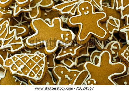Gingerbread cookies for Christmas - stock photo