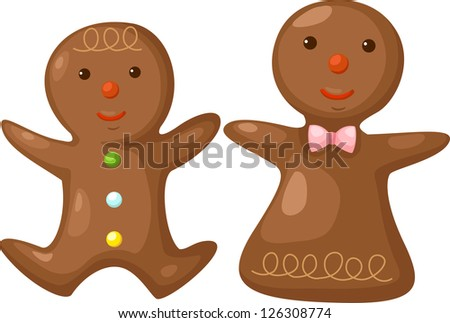 Gingerbread . jpg (EPS vector version id 126059015,format also available in my portfolio) - stock photo