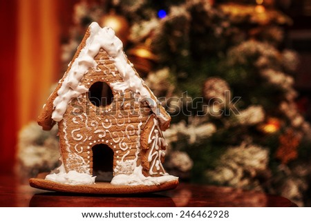 gingerbread lodge - stock photo