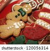 Gingerbread man and cookies. - stock photo