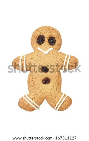 Gingerbread man, clipping path