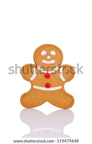 Gingerbread man with red buttons