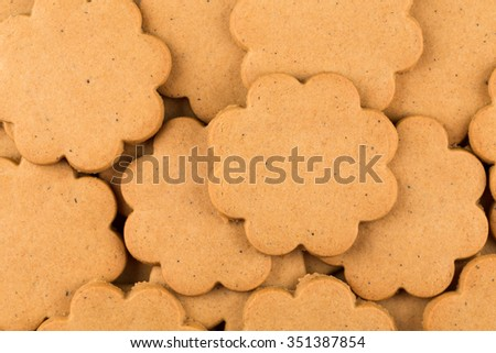 Gingerbread star cookies as a background. Christmas decoration. - stock photo
