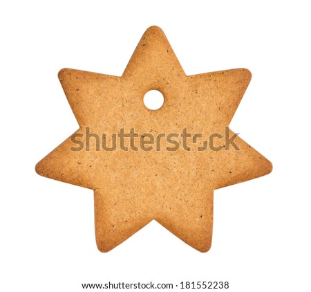Gingerbread Star shape - stock photo
