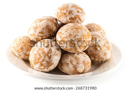 Gingerbread, treacle cakes - stock photo
