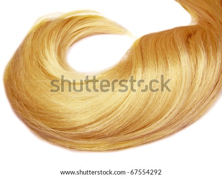 gingery hair wave isolated on white background