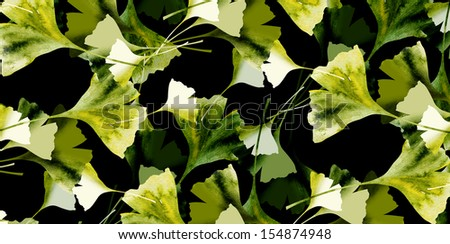 Ginkgo Pattern - stock photo