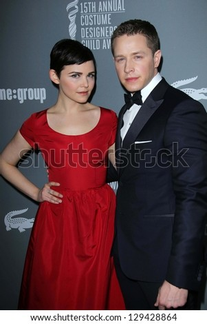 Ginnifer Goodwin and Josh Dallas at the 15th Annual Costume Designers Guild Awards, Beverly Hilton, Beverly Hills, CA 02-19-13 - stock photo