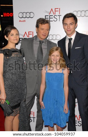 "Ginnifer Goodwin, Colin Firth, Ryan Simpkins and Nicholas Hoult at the AFI Fest 2009 Closing Night Gala Screening of ""A Single Man,"" Chinese Theater, Hollywood, CA. 11-05-09"