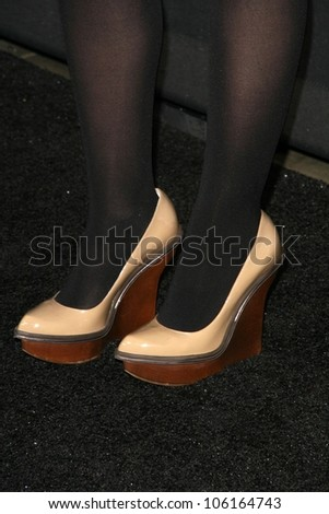 Ginnifer Goodwin's shoes   at the D and G Flagship Opening in Support of The Art of Elysium. D and G, Beverly Hills, CA. 12-15-08