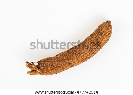 ginseng root isolated on white background