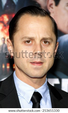 "Giovanni Ribisi at the Los Angeles premiere of ""Gangster Squad"" held at the Grauman's Chinese Theatre in Los Angeles, California, United States on January 7, 2013. - stock photo"