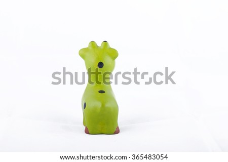 giraffe doll isolated on white background.