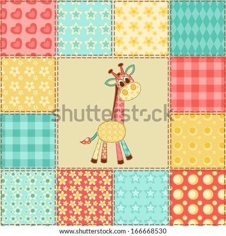 baby shower invitation girl version vector greeting card