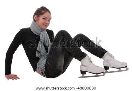 girl about the fads on a white background, it is isolated.