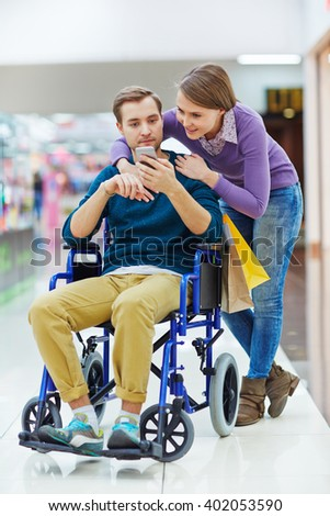 Girl and her disabled man