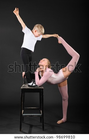Boy Gymnastics Stock Photos Images Amp Pictures Shutterstock