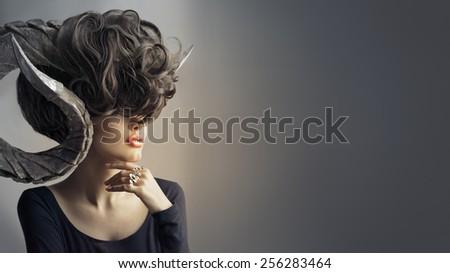 Girl - Aries - stock photo