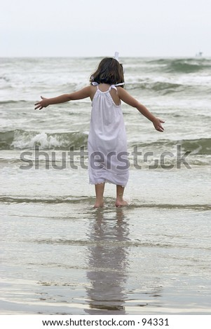 Girl at Beach in Water