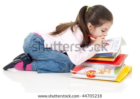 girl at school - stock photo