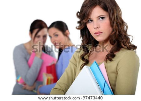 Girl being bullied - stock photo