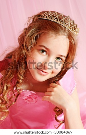 Girl child in pink dress