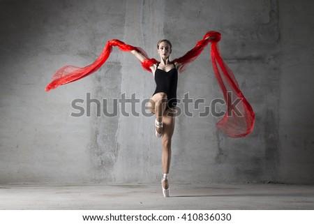 girl, dance, dancer, ballet, ballerina, modern, pointe shoes,  - stock photo