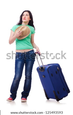 Girl departing for summer vacation