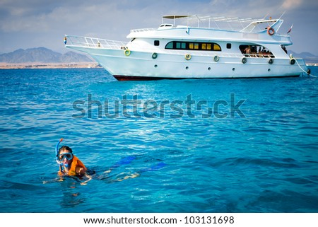girl diving - stock photo