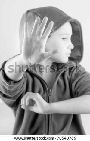 Girl doesn't want to be bothered - stock photo