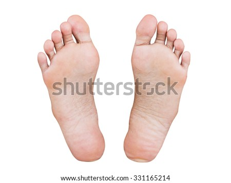 Girl foot isolated on white background